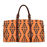 F-FIVE TRAVEL BAG BROWN STRAP ORANGE/BLACK