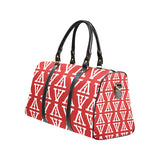 F-FIVE TRAVEL BAG RED/WHITE with Black Straps