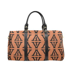F-FIVE TRAVEL BAG TAN/BLACK with Black Straps