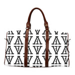 F-FIVE TRAVEL BAG BROWN STRAP WHITE/BLACK