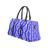 F-FIVE TRAVEL BAG ROYAL BLUE/WHITE with Black Straps