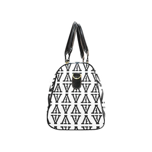 F-FIVE TRAVEL BAG WHITE/BLACK with Black Straps