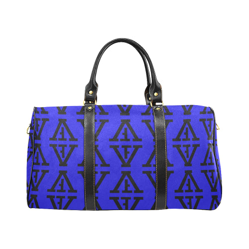 F-FIVE TRAVEL BAG ROYAL BLUE/BLACK with Black Straps