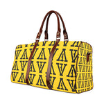 F-FIVE TRAVEL BAG BROWN STRAP YELLOW/BLACK