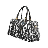 F-FIVE TRAVEL BAG BLACK/WHITE with Black Straps
