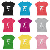Fv Painted Graphic Scoopneck Tee for Women