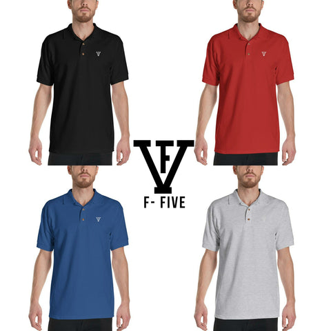 F-FIVE Polo Shirt White Logo