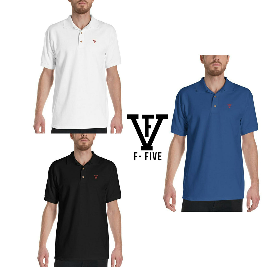 F-FIVE Polo Shirt Red Logo