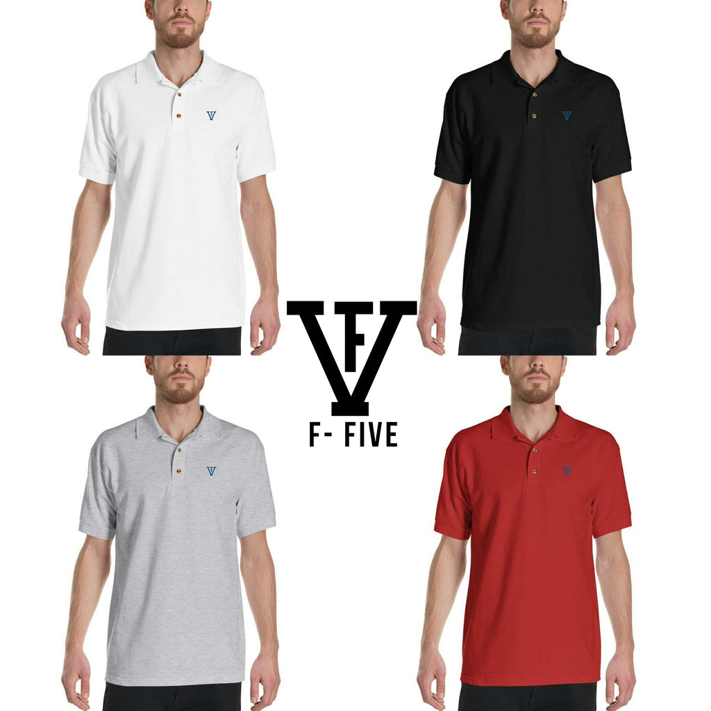 F-FIVE Polo Shirt Royal Blue Logo
