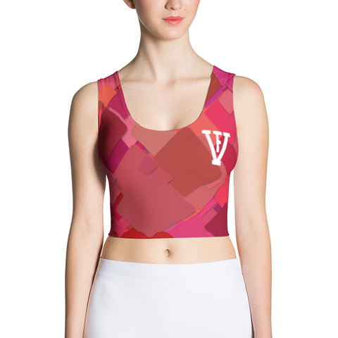 Pink Multi Color F-FIVE Crop Top