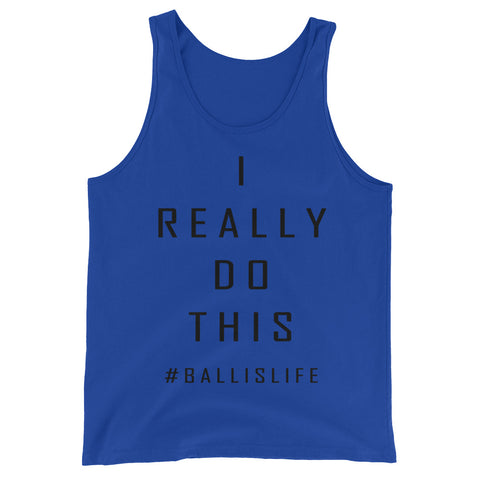 I Really Do This #BallIsLife Graphic Tank Top for Men