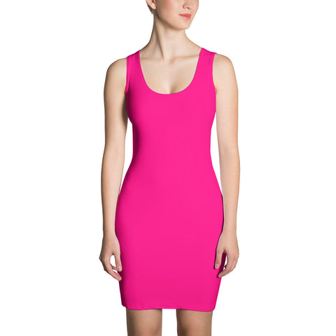F-FIVE LA Reyna Fitted Dress (Pink)