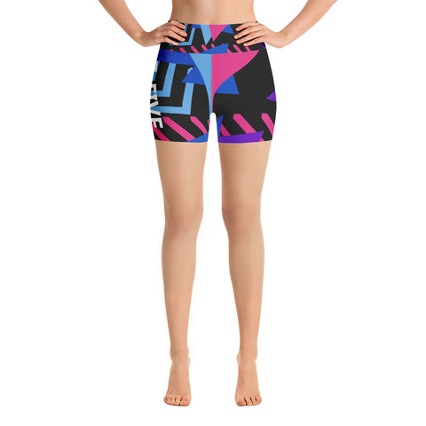 Multi Color F-FIVE Yoga Shorts
