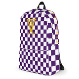 F-FIVE Chess Board Purple Backpack