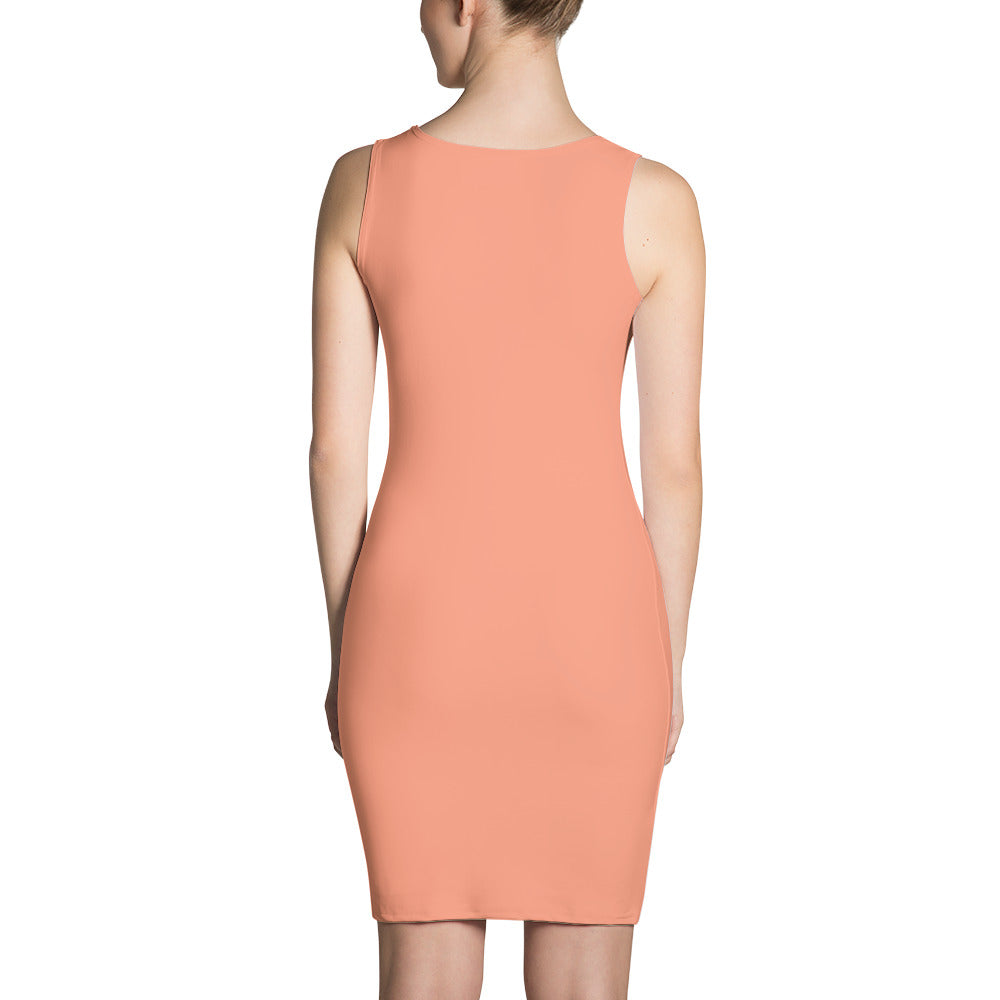 F-FIVE La Reyna Fitted Dress (Peach)