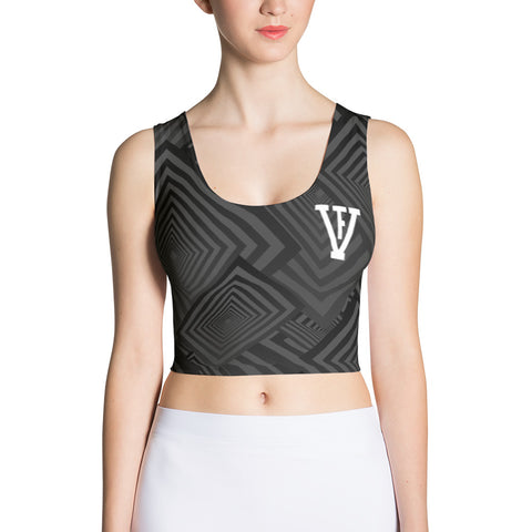 Black/Grey F-FIVE Crop Top