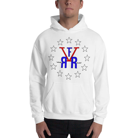 F-FIVE Stars and Logo Graphic Hooded Sweatshirts for Men and Women