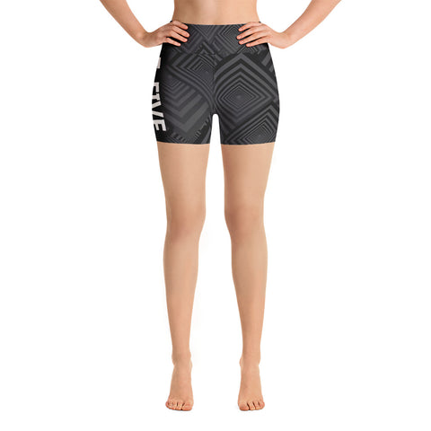 Black/Grey F-FIVE Yoga Shorts
