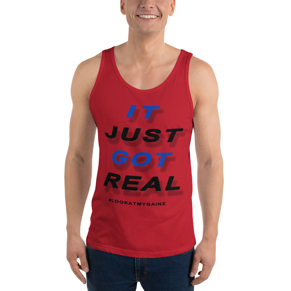 It Just Got Real Graphic Tank Top for Men