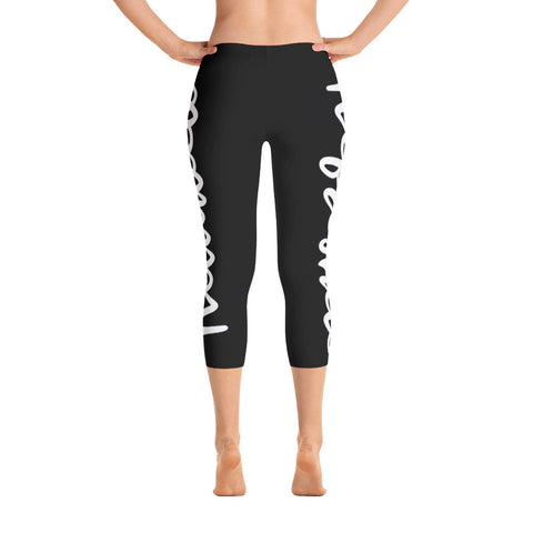 Refreshed Reloaded Black Capri Leggings
