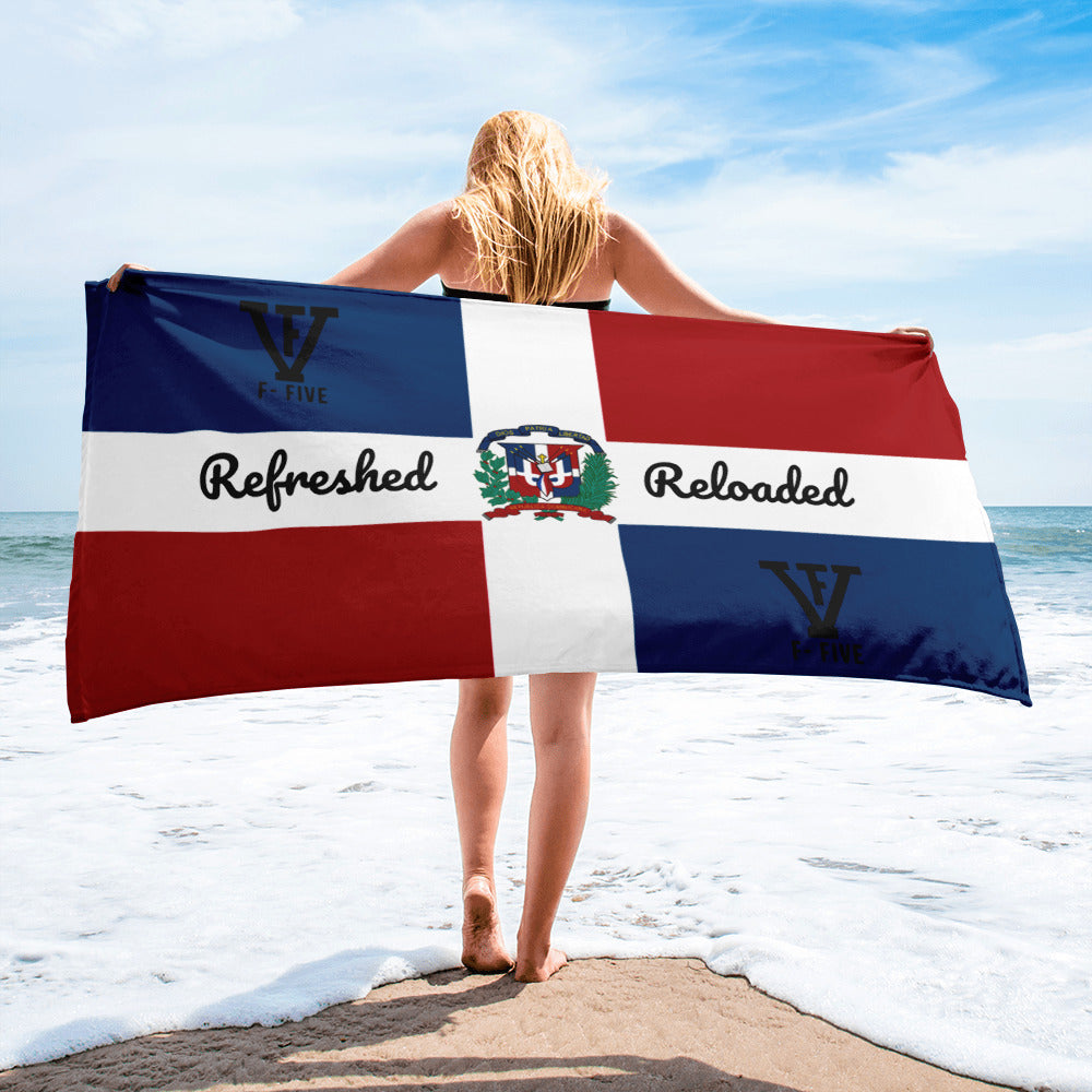 F-FIVE Dominican Republic Flag Towel