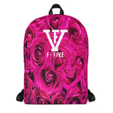 F-FIVE Pink Roses Backpack