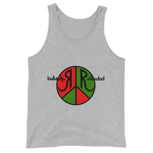 Refreshed Reloaded & @ Peace Graphic Tank Top for Men