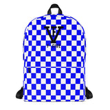 F-FIVE Royal Blue Chess Board Backpack