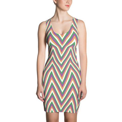 F-FIVE La Reyna Fitted Dress (zig zag)