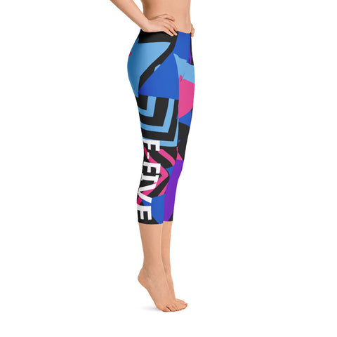 Multi Color F-FIVE Capri Leggings