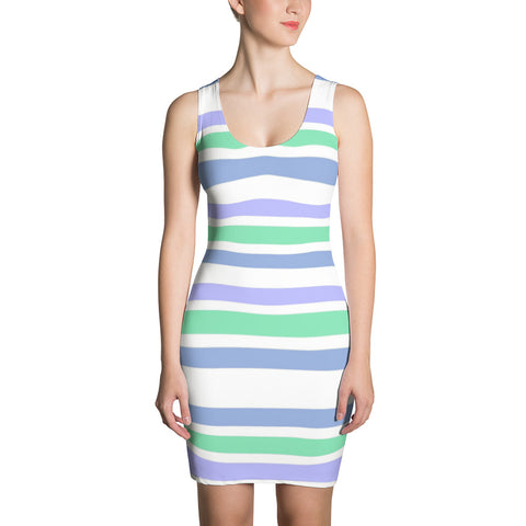 F-FIVE La Reyna Fitted Dress (Stripes)