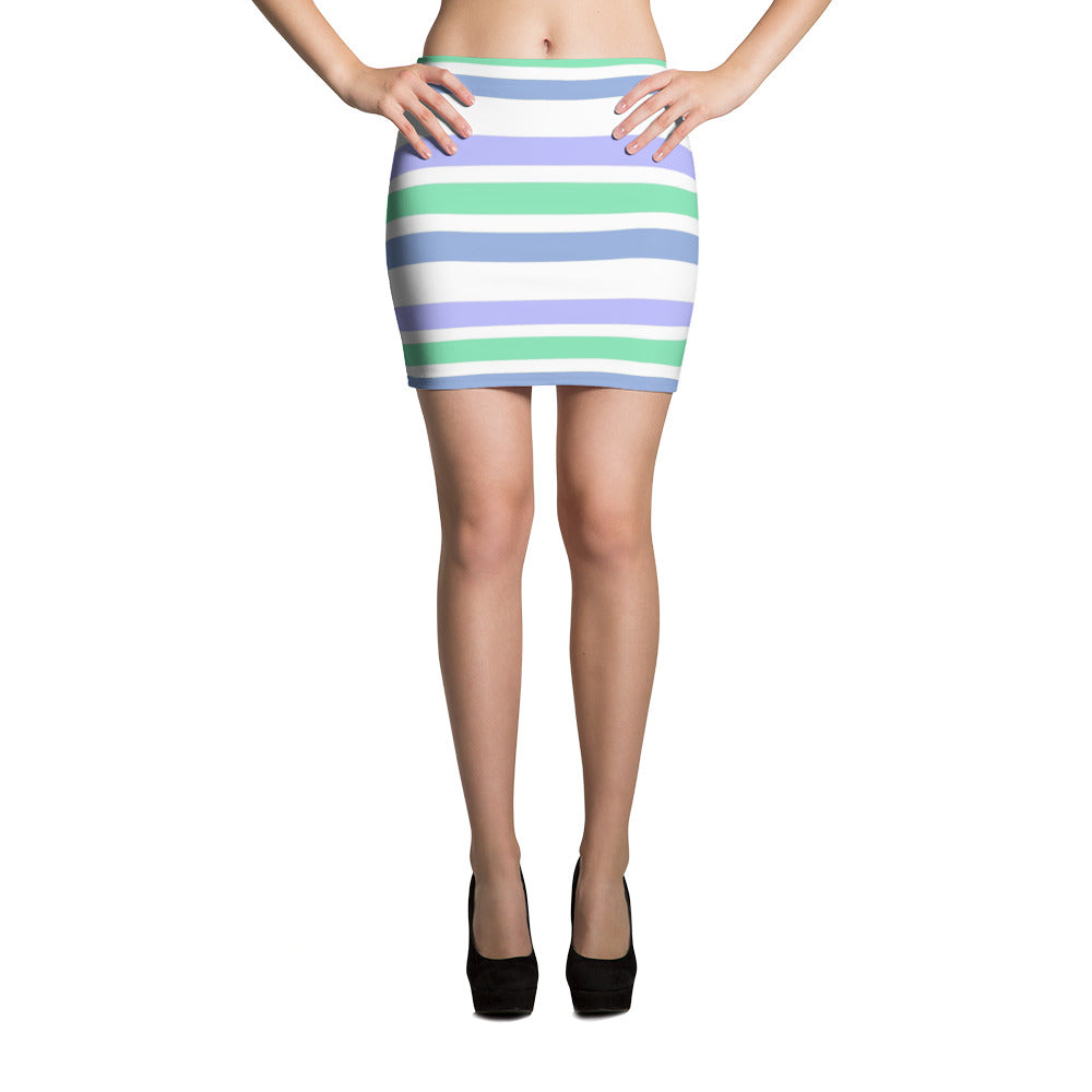F-FIVE LA Reyna Fitted Mini Skirt (stripes)