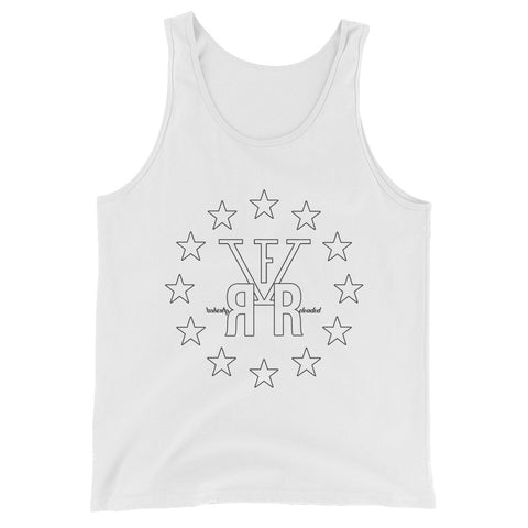 F-FIVE Stars and Logo Graphic Tank Top for Men