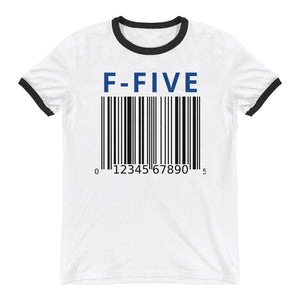F-FIVE Barcode Ringer T-Shirt