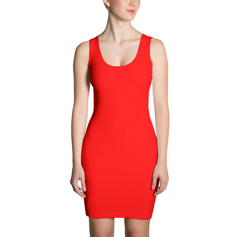 F-FIVE LA Reyna Fitted Dress (Red)