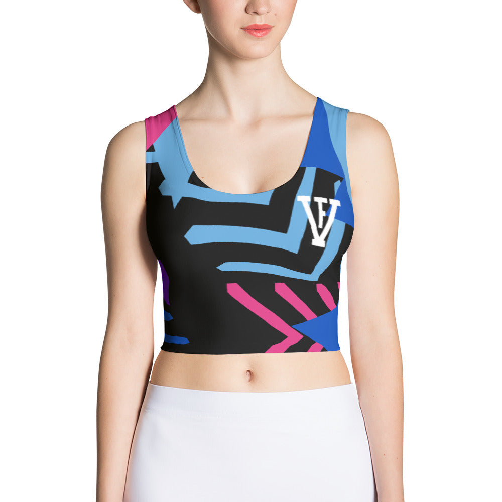 Multi Color F-FIVE Crop Top