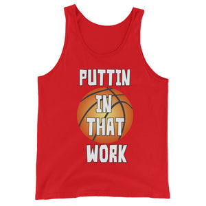 Puttin In That Work Graphic Tank Tops for Men