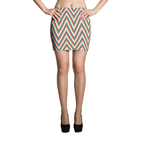 F-FIVE LA Reyna Fitted Mini Skirt (zig zag)