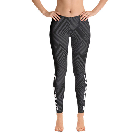 Black/Grey F-FIVE Leggings