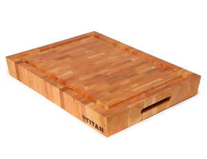 "Cherry - End Grain Chopping Block w/ Juice Groove -- 15"" x 20"" x 2.5"" / Includes 8 oz Vitality Oil"