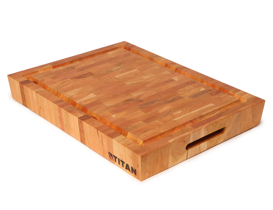 Cherry - End Grain Chopping Block w/ Juice Groove -- 15