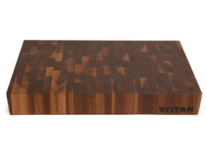 "Walnut - End Grain Chopping Block -- 15"" x 20"" / Includes 8 oz Vitality Oil"