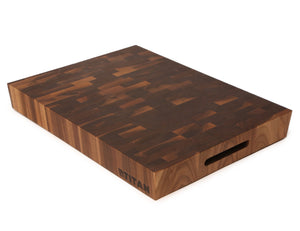 "Walnut - End Grain Cutting Board -- 15"" x 20"" x 2"" / Includes 8 oz Vitality Oil"
