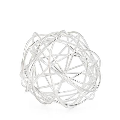 Spiral X-Large Wire Ball - Silver