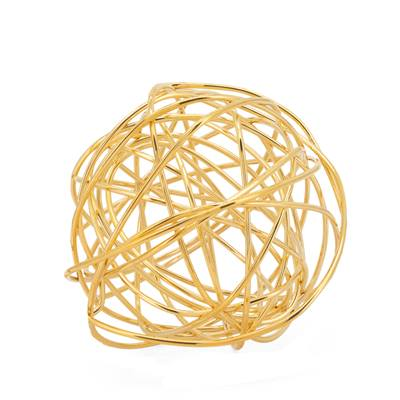 Spiral X-Large Wire Ball - Gold