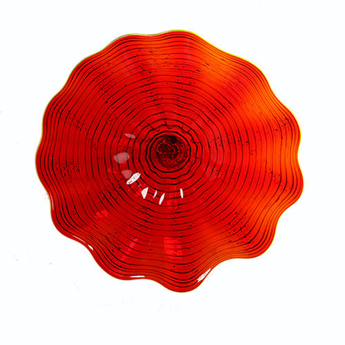 Red Rippled Wall Art (Small)