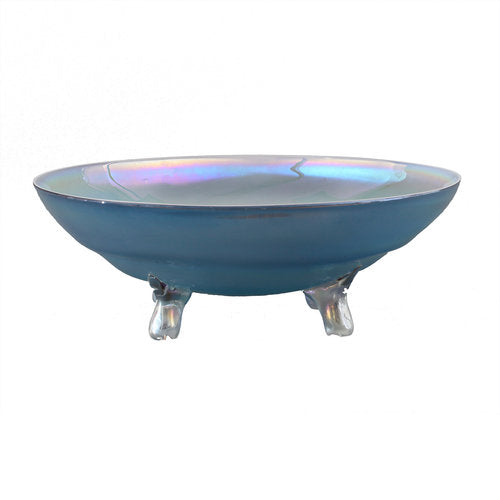 Blue Iridescent Table Top Platter