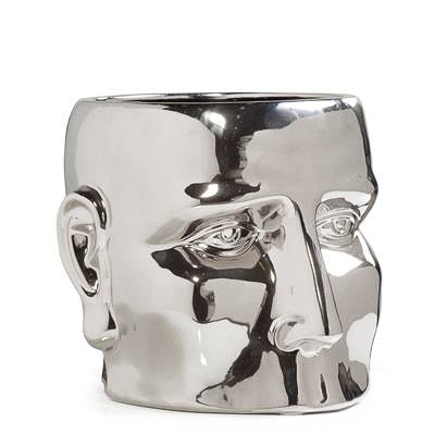 Face Vase Large - Chrome