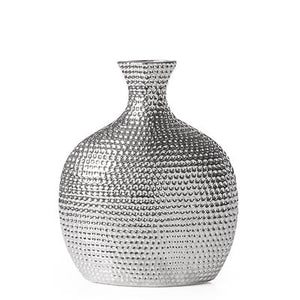 Helio Hammered Ceramic Bottle Vase - Short