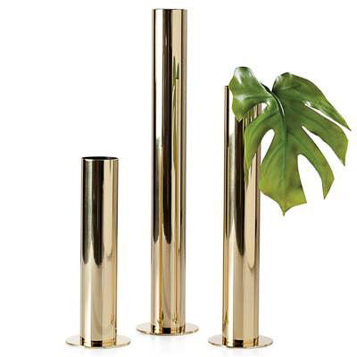 Pipe Vases Set of 3 - Gold